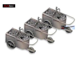 Artitec H0 387.144 3 kolenkarren voor kolenkraan kant en klaar resin, geverfd - Modeltreinshop