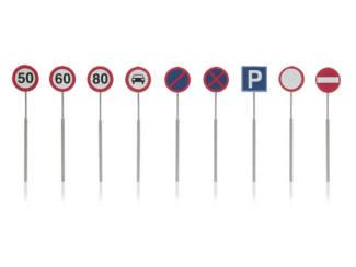 Artitec H0 387.262 NL verkeersborden snelheid, verbodsborden 9 stuks kant en klaar geverfd - Modeltreinshop