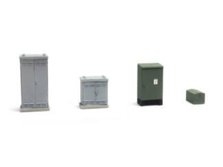 Artitec H0 387.374 NL schakelkasten overweg kant-en-klaar, geverfd - Modeltreinshop