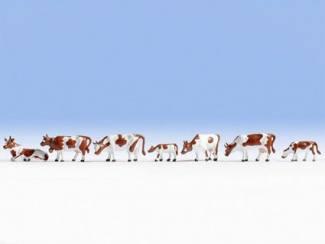 Noch N 36723 Koeien Bruin Wit - Modeltreinshop