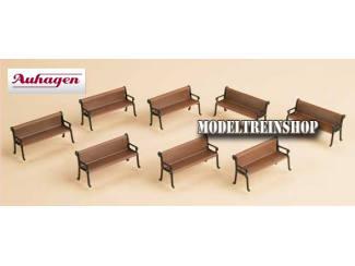 Auhagen H0 41199 Bankjes 8 stuks - Modeltreinshop