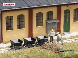 Auhagen H0 41702 Smalspoor Kiepwagens 3 stuks - Modeltreinshop