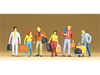 Preiser H0 10115 Vertrekkende reizigers - Modeltreinshop