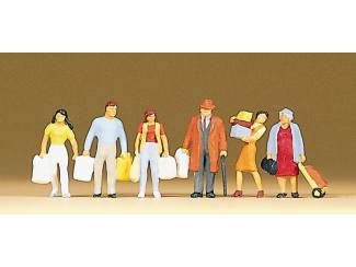 Preiser H0 10121 Inkopende figuren - Modeltreinshop