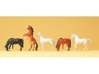 Preiser H0 10156 Paarden - Modeltreinshop