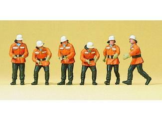Preiser H0 10242 Brandweermannen in actie - Modeltreinshop