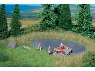 Noch 07442 Natuur Zwemmeer 22 x 20 cm met 10 bloembosjes - Modeltreinshop