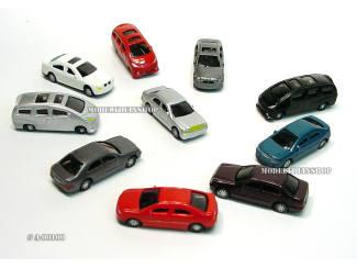 H0 Auto Set - 10 stuks - Modeltreinshop