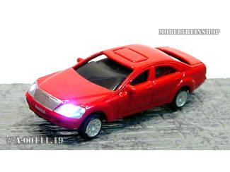 N - Auto Rood met Voor- en Achter Led licht - Modeltreinshop