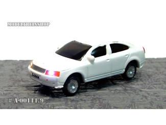 N - Auto Wit met Voor- en Achter Led licht - Modeltreinshop