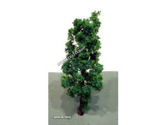 Boom 008 - slank donker groen 9 cm - Modeltreinshop