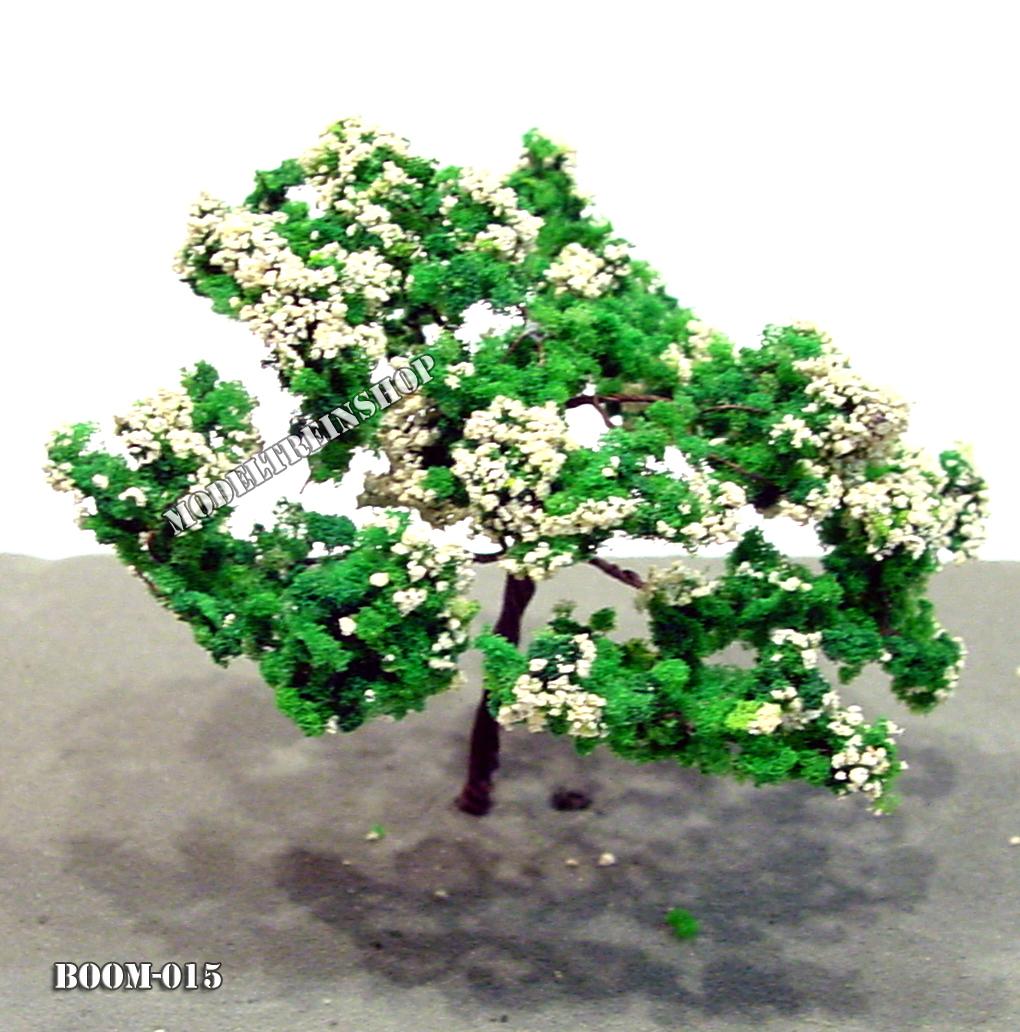 Boom 015 - met witte bloesem - Modeltreinshop