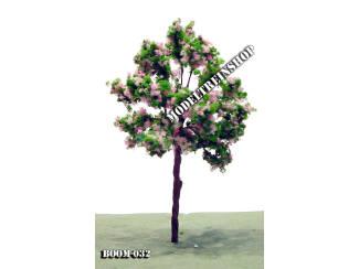 Boom 032 - Licht groen met rose bloesem - Modeltreinshop