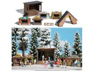 Bush H0 1183 Kerstmarkt stallen - Modeltreinshop