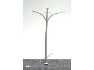 L-0022 H0 - Lantaarnpaal 6V Wit - Modeltreinshop