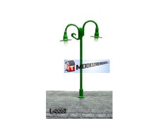 L-0057 H0 - N - Lantaarnpaal 12V Licht Groen - Modeltreinshop