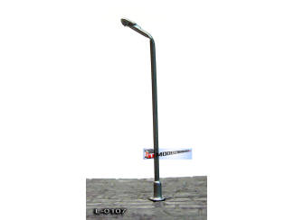 L-0107 N - Z - LED Lantaarnpaal 12V Zilver - Modeltreinshop