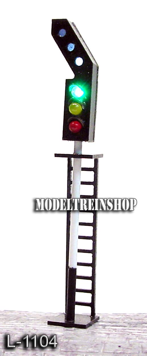 L-1104 H0 - N - Sein met 6 Led - Groen / Geel / Rood / 3x Wit - Modeltreinshop