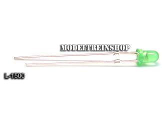 L-1500 - Led 3mm Groen 3v - Modeltreinshop