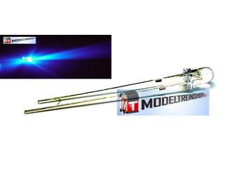 L-1504.1 - Clear Led 3mm Blauw 3v - Modeltreinshop