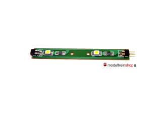 L-1593 H0 - Led Strip 6 cm 3volt - Led Kleur Warm Wit - Modeltreinshop