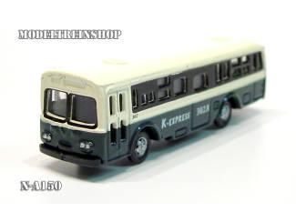 N Auto Bus Wit-Groen - Metaal - Modeltreinshop