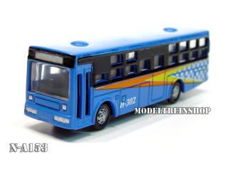 N Auto Bus Blauw - Metaal - Modeltreinshop