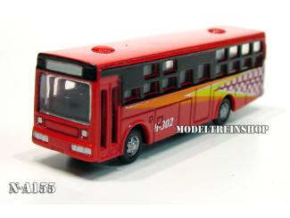N Auto Bus Rood - Metaal - Modeltreinshop