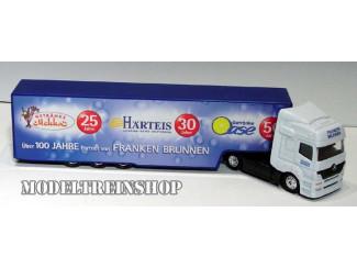 H0 Vrachtwagen - Uber 100 Jahre partner von Franken Brunnen - Modeltreinshop