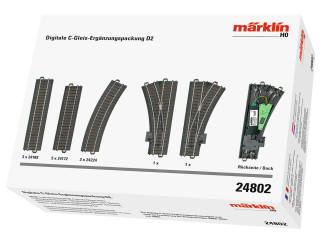 Marklin H0 C Rail 24802 C rail uitbreidingsset D2 - Modeltreinshop