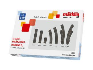Marklin H0 C Rail 24904 C rail uitbreidingsset C4 - Modeltreinshop
