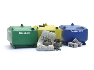 Artitec H0 10.391 Glasbak en papierbak set bouwpakket uit resin, ongeverfd - Modeltreinshop