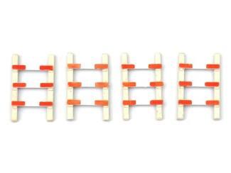 Artitec H0 10.270 Overweg hekken 4 stuks bouwpakket geëtst, ongeverfd - Modeltreinshop
