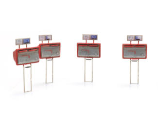 Artitec H0 10.392 Tweeling brievenbussen 1959-1986 (4x) bouwpakket uit resin, ongeverfd - Modeltreinshop
