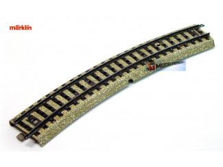 Marklin M Rail H0 5100 Gebogen 1/1 - 18,8 cm - Modeltreinshop