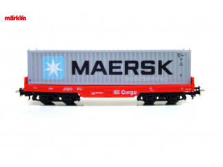 Marklin H0 29453 Containerwagen 1x 40 ft container Maersk - Modeltreinshop