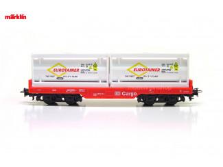 Marklin H0 29453 Containerwagen 2x 20 ft tank container Eurotainer - Modeltreinshop