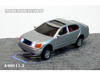 H0 - Auto Zilver met Voor- en Achter Led licht - Modeltreinshop