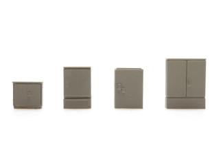 Artitec H0 387.296 Set B Schakelkasten kant-en-klaar, geverfd- Modeltreinshop