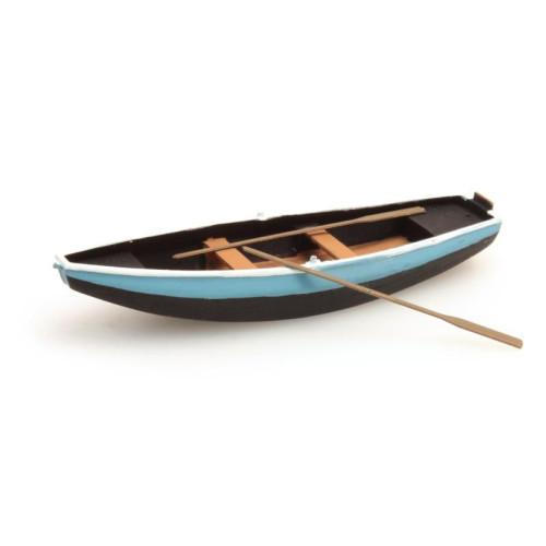 Artitec H0 387.09 Stalen roeiboot blauw kant-en-klaar - Modeltreinshop