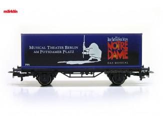 Marklin H0 4482 055 - 99714 containerwagen Musical Der Glockner von Notre Dame - Modeltreinshop
