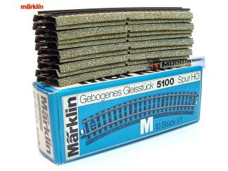 Marklin M Rail H0 5100 Gebogen 1/1 - 18,8 cm 10 stuks in OVP - Modeltreinshop
