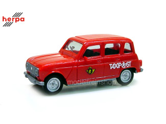 Herpa H0 942287 - 001 Renault Taxipost Belgie - Modeltreinshop