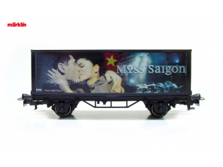 Marklin H0 4482 033 - 98707 containerwagen Musical Miss Saigon - Modeltreinshop