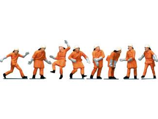 Faller H0 151036 Brandweerlieden, oranje veiligheid - Modeltreinshop