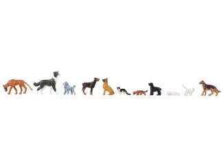 Faller H0 151902 Honden en katten - Modeltreinshop