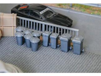 Faller H0 180905 10 stuks vuilnisbakken Bouwpakket - Modeltreinshop