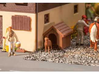 Faller H0 180939 Hondenhok met hond Bouwpakket - Modeltreinshop
