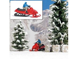 Busch H0 aktie set 7818 Man op sneeuwscooter - Modeltreinshop