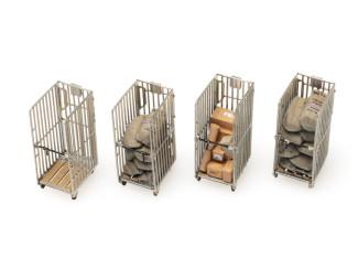 Artitec H0 387.446 PTT Rolcontainers (4x) kant-en-klaar, geverfd - Modeltreinshop